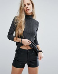 Pull And Bear Ribbed Jersey Sweater Gray
