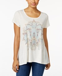 Styleandco. Style Co. Petite Lotus Dream Graphic T Shirt Only At Macy's Oatmeal