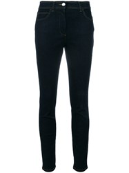 Versus Embroidered Skinny Jeans Blue