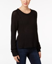 Calvin Klein Jeans Ribbed Sweater Black