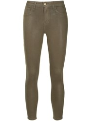 L'agence Slim Fit Cropped Trousers Brown