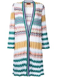 Missoni Zig Zag Pattern Open Cardigan