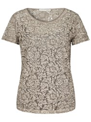 Oui Double Layer Lace Top Moonrock