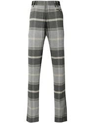Vivienne Westwood Man Plaid Tailored Trousers Brown