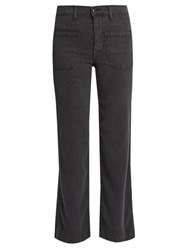 The Great Cropped Mariner Corduroy Trousers Dark Grey