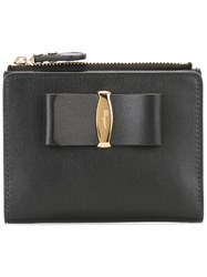 Salvatore Ferragamo Small Bow Detail Wallet Black