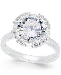 Thomas Sabo Crystal Solitaire Ring In Sterling Silver