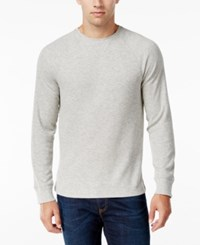 Club Room Men's Thermal Shirt Only At Macy's Light Grey Heather