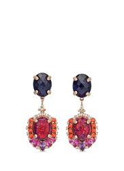 Anabela Chan 'Opals Violet' Detachable Gemstone 18K Rose Gold Drop Earrings Multi Colour