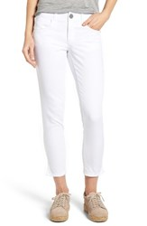 Wit And Wisdom Women's Ab Solution Stretch Twill Skinny Pants White