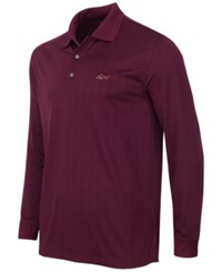Greg Norman For Tasso Elba Men's Big And Tall Long Sleeve Striped Polo Only At Macy's Port