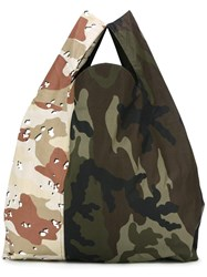 Maison Martin Margiela Mm6 'Camouflage' Tote Green