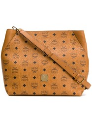 Mcm Klara Hobo Bag Brown