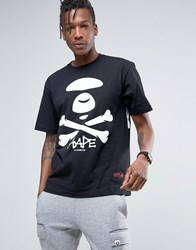 Aape By A Bathing Ape T Shirt With Large Logo Black