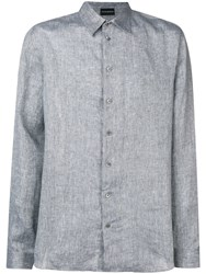 Emporio Armani Plain Shirt Grey