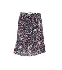 Etoile Isabel Marant Tempster Printed Linen Skirt Multicoloured