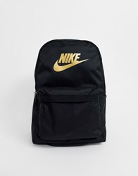 Nike Backpack In Black And Gold Logo