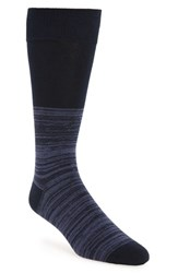 Calibrate Men's 'Marled Colorblock' Socks Navy