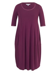 Chesca Jersey Dress With Seamed Detail Purple