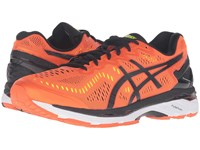 Asics Gel Kayano 23 Flame Orange Black Safety Yellow Men's Running Shoes
