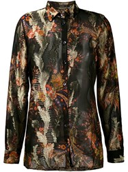 Etro Embroidered Shirt Black