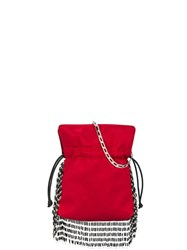 Les Petits Joueurs Nano Trilly Fringe Crossbody Bag Red