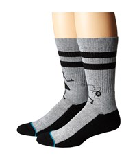 Stance Las Gaviotas Grey Men's Crew Cut Socks Shoes Gray