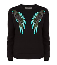 Maje Bird Embroidered Jumper Female Black