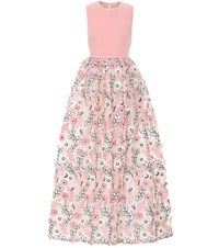 Huishan Zhang Sleeveless Fil Coupe Dress Pink