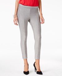 Hue Seamed Double Knit Skimmer Leggings Grey Heather