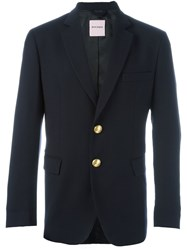 Palm Angels Gold Tone Hardware Blazer Blue