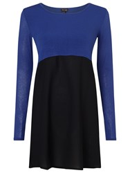 Phase Eight Willow Woven Hem Tunic Top Cobalt Black