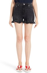 Msgm Women's Cutoff Jean Shorts