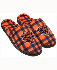 Forever Collectibles Chicago Bears Flannel Slide Slippers Navy