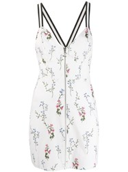 For Love And Lemons Floral Print Fitted Dress White