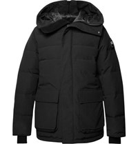 Canada Goose Wedgemount Quilted Canvas Hooded Down Jacket Black