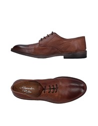 Alexander Hotto Lace Up Shoes Brown