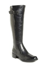 Born Roxie Knee High Leather Wide Calf Boot Black