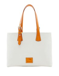 Dooney And Bourke Patterson Leather Hanna Tote White