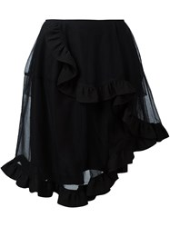 Simone Rocha Asymmetric Tulle Full Skirt Black
