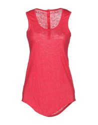 Fine Collection Tank Tops Coral