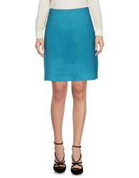 Atos Lombardini Knee Length Skirts Turquoise