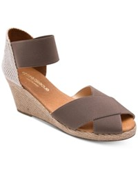 Andre Assous Erika Wedge Sandals Taupe