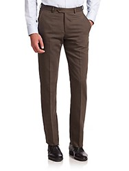Armani Collezioni Wool Blend Dress Pants Grey
