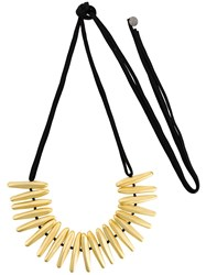 Maria Calderara Super Long Necklace Metallic