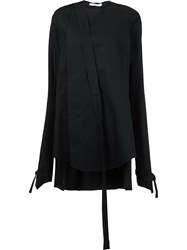 Aganovich Raw Edge Long Blouse Black