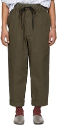 3.1 Phillip Lim Brown Pull On Rib Relaxed Trousers