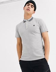 Timberland Stretch Polo Shirt In Grey