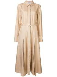 Gabriela Hearst Belted Shirt Dress Brown