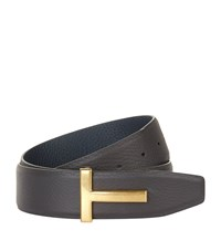 Tom Ford Reversible T Buckle Belt Unisex Brown